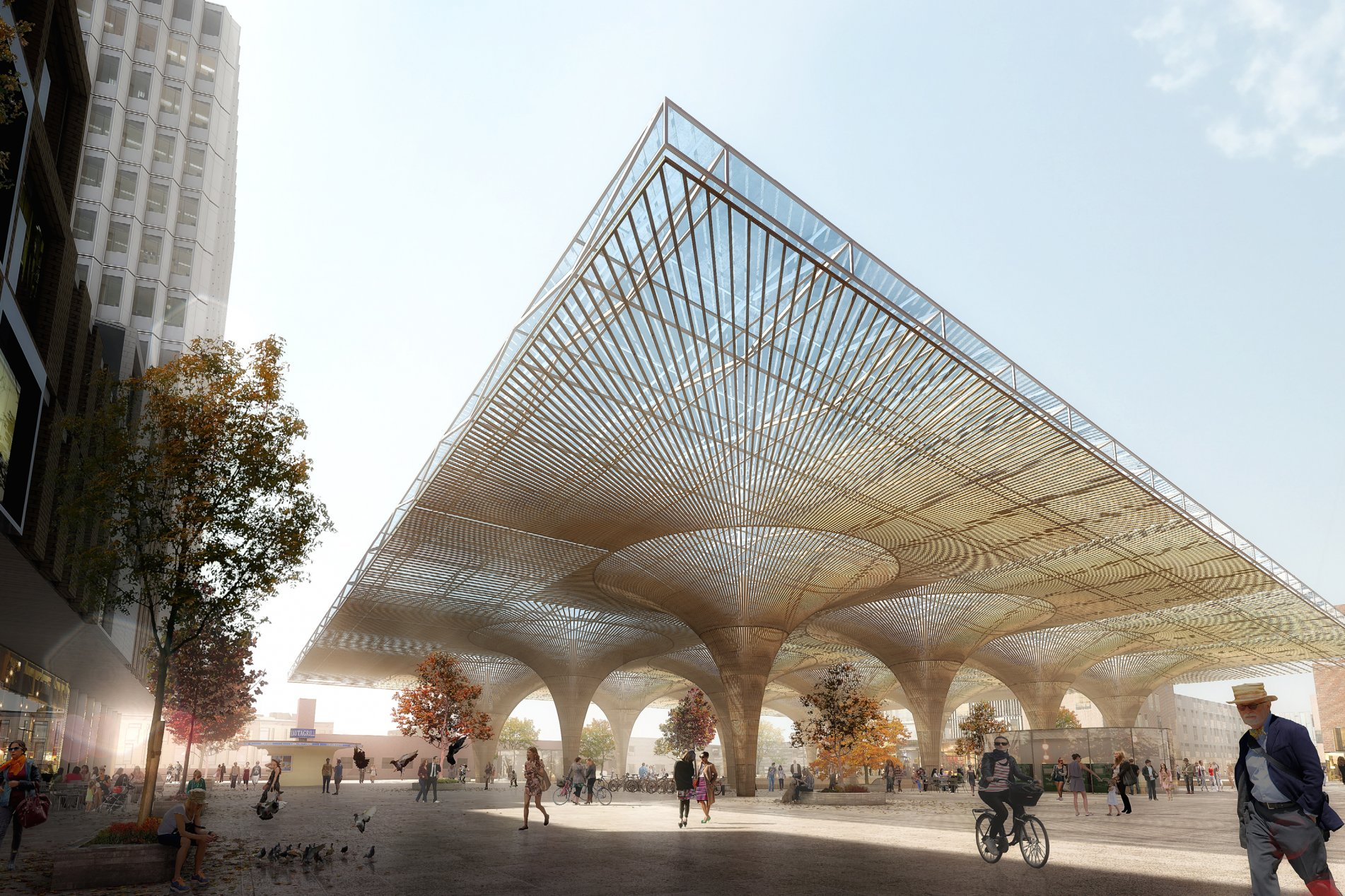 Lunden Architecture Company & COBE_Tampere_Travel_and_Service_Center__station_plaza